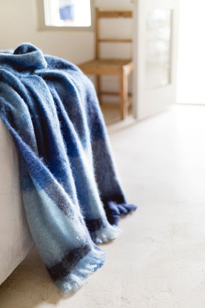"MOHAIR WOOL THROW by Hinterveld. BEAUTIFUL STORY- ""TREASURE ISLAND"" - My Greater Shop"