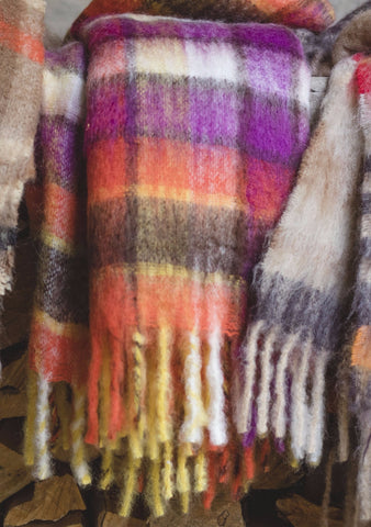 "Luxurious Hinterveld AFRICA BLANKET ""ILANGA "" Design. Genuine South Africa Mohair & Wool!"