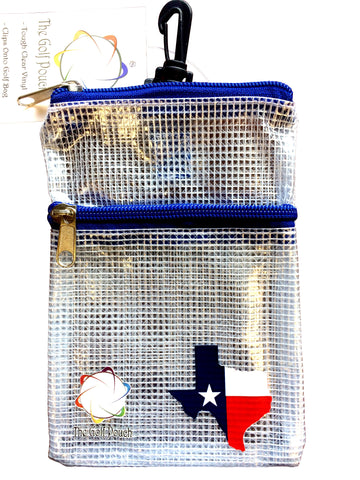 The Golf Pouch, Texas State Map Flag - My Greater Shop