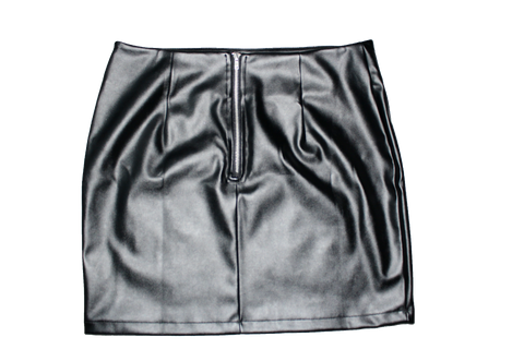 Black Milano Kleid Bicast Leather Skirt