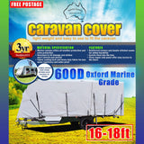 Aussie Covers 16'-18' 600d Caravan Cover(OUT OF STOCK UNTIL MIDDLE OF NOVEMBER)