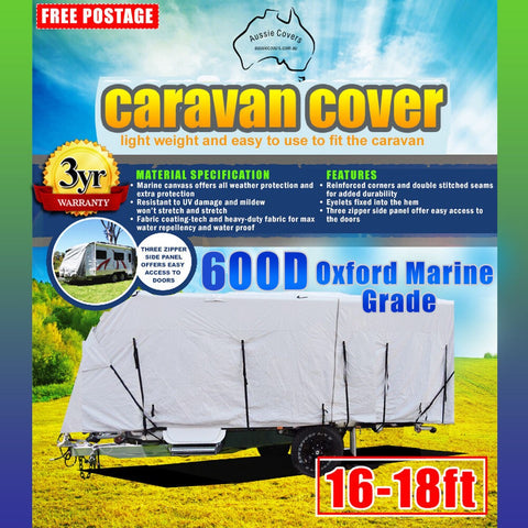 Aussie Covers 16'-18' 600d Caravan Cover OUT OF STOCK UNTIL EARLY FEB PRE ORDER