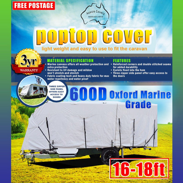 Aussie Covers 16'-18' 600d Pop Top Cover