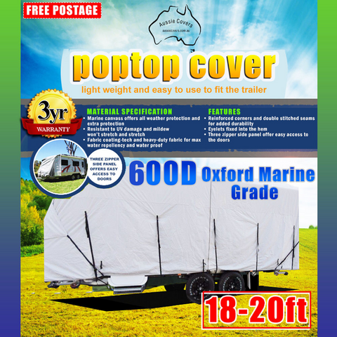 Aussie Covers 18'-20' 600d Pop Top Cover