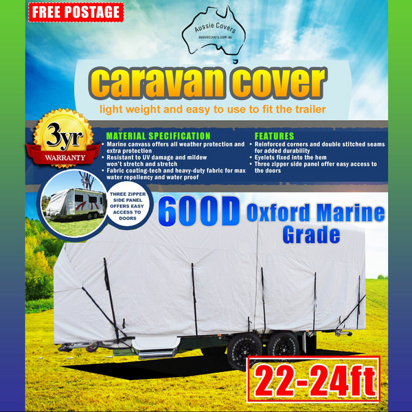 Aussie Covers 22'-24' 600d Caravan Cover OUT OF STOCK UNTIL MID FEB PRE ORDER