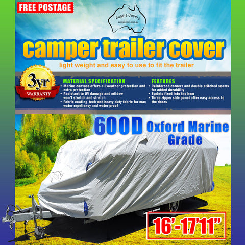 Aussie Covers 16'-17'-11 600d Camper Trailer Cover