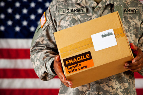 Package delivery for service member and military