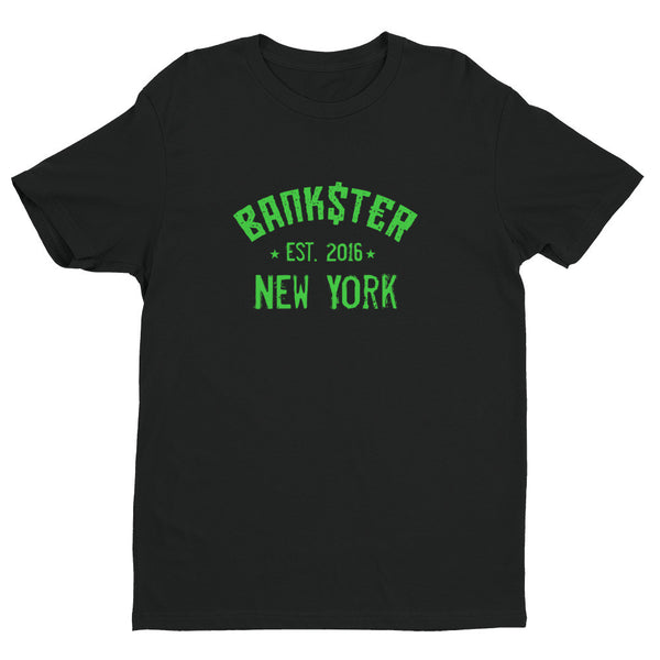 The BANK$T€R Classic New York t-shirt (Green)