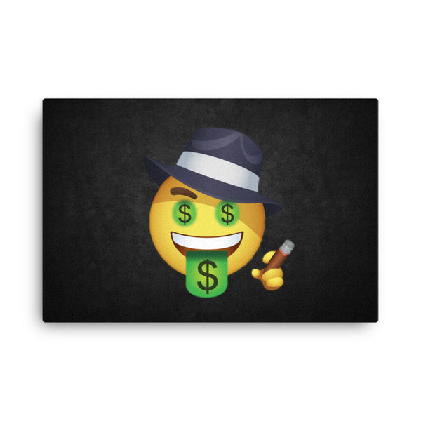 Gangster Emoji Canvas
