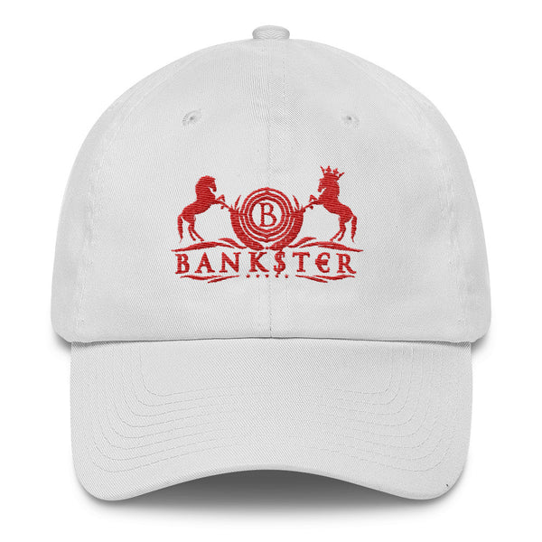 Classic BANK$T€R Dad Cap (Rosso Edition)