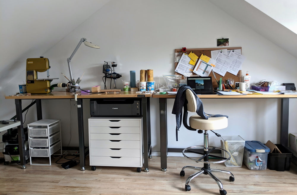 image of Wild Blue Yonder studio where jewelry is handmade