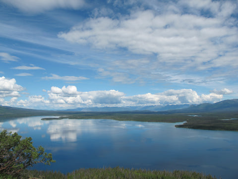 Wild Blue sky over Kathleen Lake, Kluane National Park, Canada