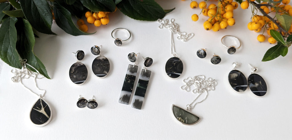"NEW ""Dawn Collection"" from Wild Blue Yonder, handmade jewelry from resin and fine metals"