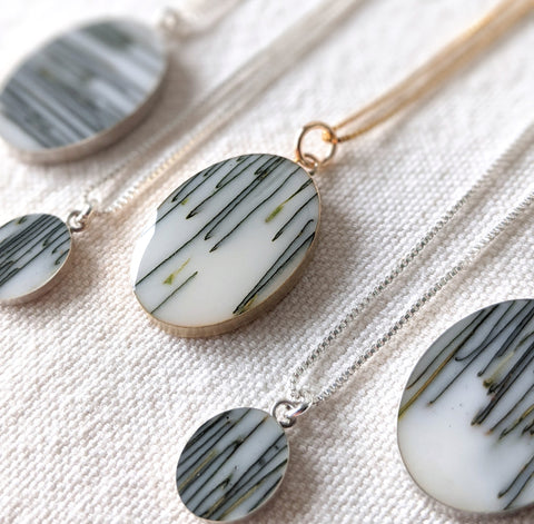 Handmade jewelry by Wild Blue Yonder - jewelry necklaces made with Olive Leaves