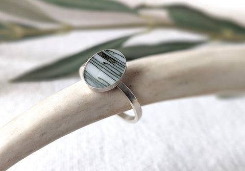 Ring by Wild Blue Yonder Resin and wood jewelry