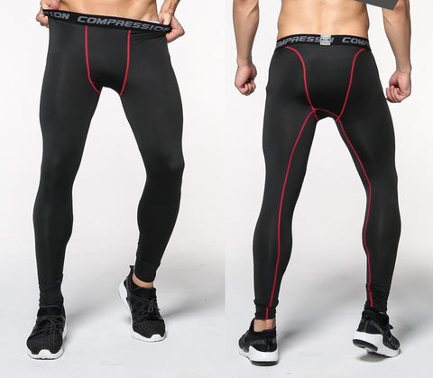 Black Compression Pants for Men