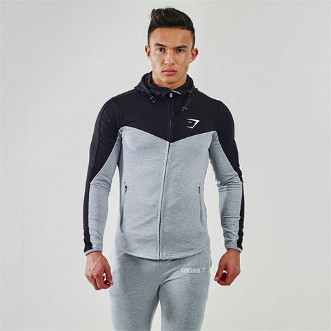 Dark Gymshark Fitness Hoodies Sweatshirts Men's Sportswear