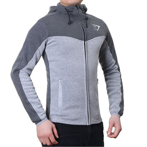 Dark Grey Gymshark Fitness Hoodies Sweatshirts Men's Sportswear