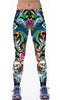 Image of Ed Hardy-inspired Skulls and Roses Sport Leggings for Women
