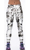 Image of Black and White Radioactive Skull Leggings for Women