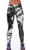 Image of Black Panther and Barbed Wire Sports Leggings for Women