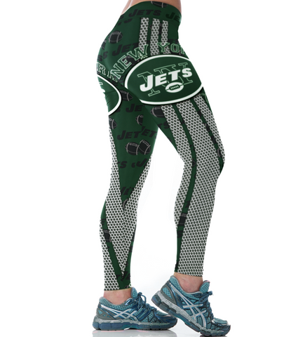 New York  Football Sports Leggings for Women