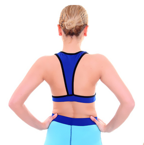 Blue Sport Yoga Bra