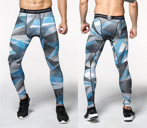 Camouflage Trousers Compression Leggings for Men