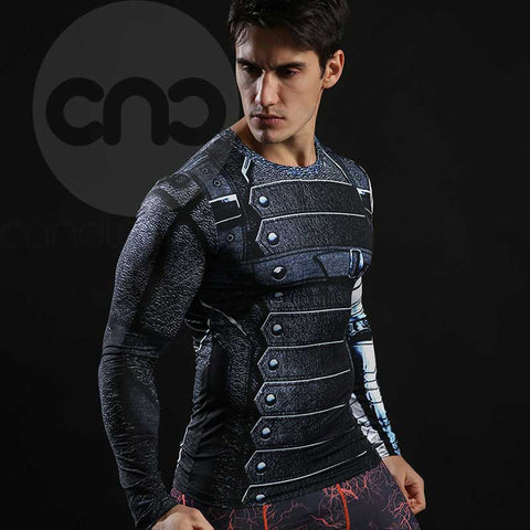 Superhero Winter Soldier 3D Compression Long Sleeves