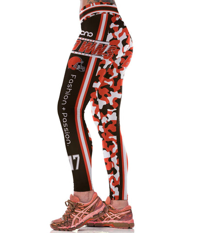Cleveland Football Sports Leggings for Women