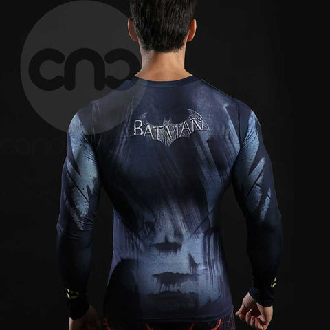 Superhero 2008-The Dark Night Batman 3D Compression Long Sleeves