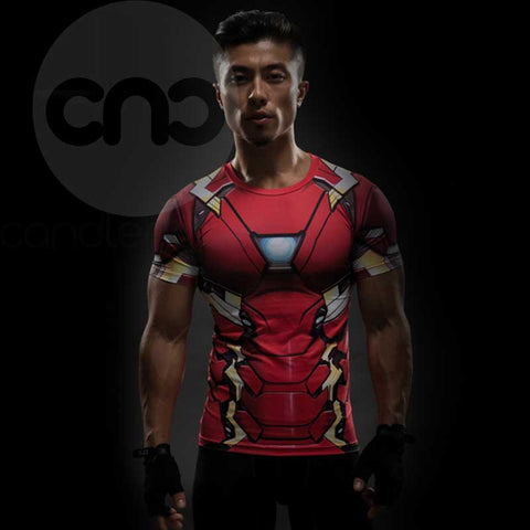 Iron Man Prime 3D Printed Compression Shirt