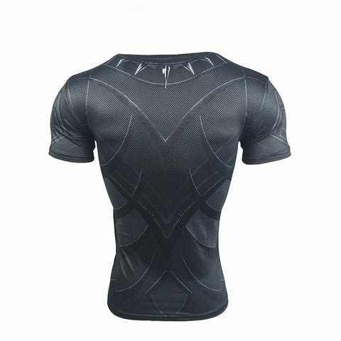 Superhero Black Panther 3D Compression Shirt