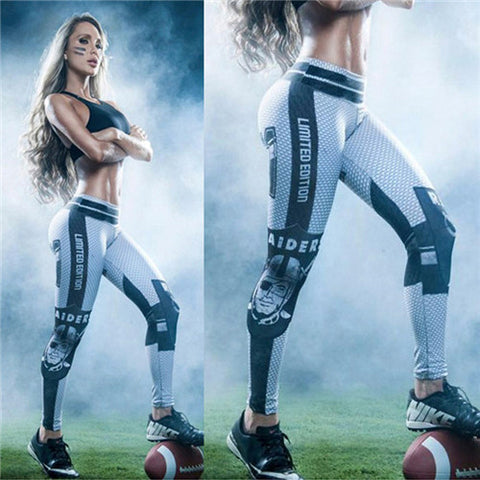 LIMITED EDITION Blue and White Oakland Football Sports Leggings
