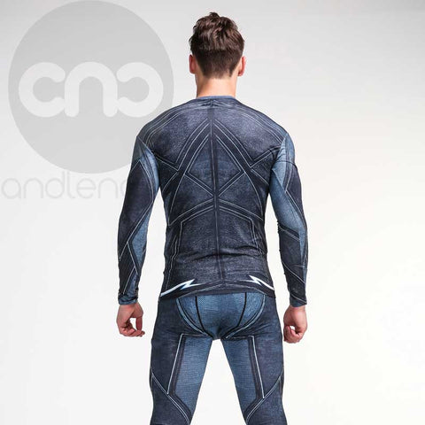 Flash ZOOM 3D Printed  Compression Long Sleeve