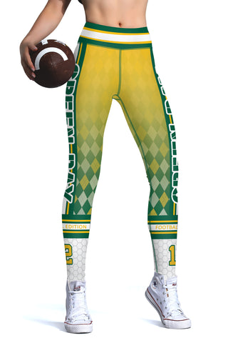 Green Bay (HQ) New Design 2017 Sports Leggings