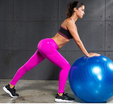 Pink Quick Dry Yoga Pants