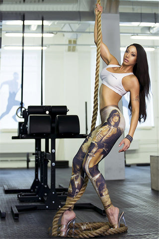 Hoodie Warrior  Leggings for Women