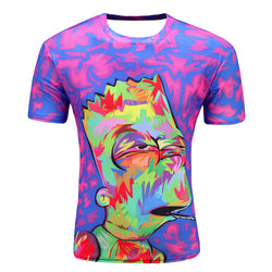 Animation Hip Hop Tees Tops Brand Clothing T-shirt D07