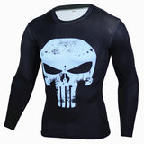 Image of Blue Punisher Compression Long Sleeves