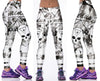 Black and White Radioactive Skull Leggings for Women