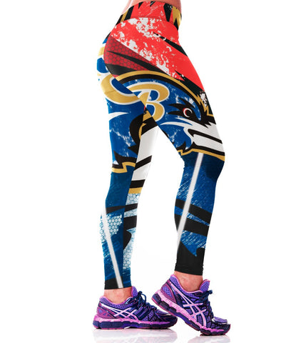 LIMITED EDITION Raging RED Baltimore Sports Leggings