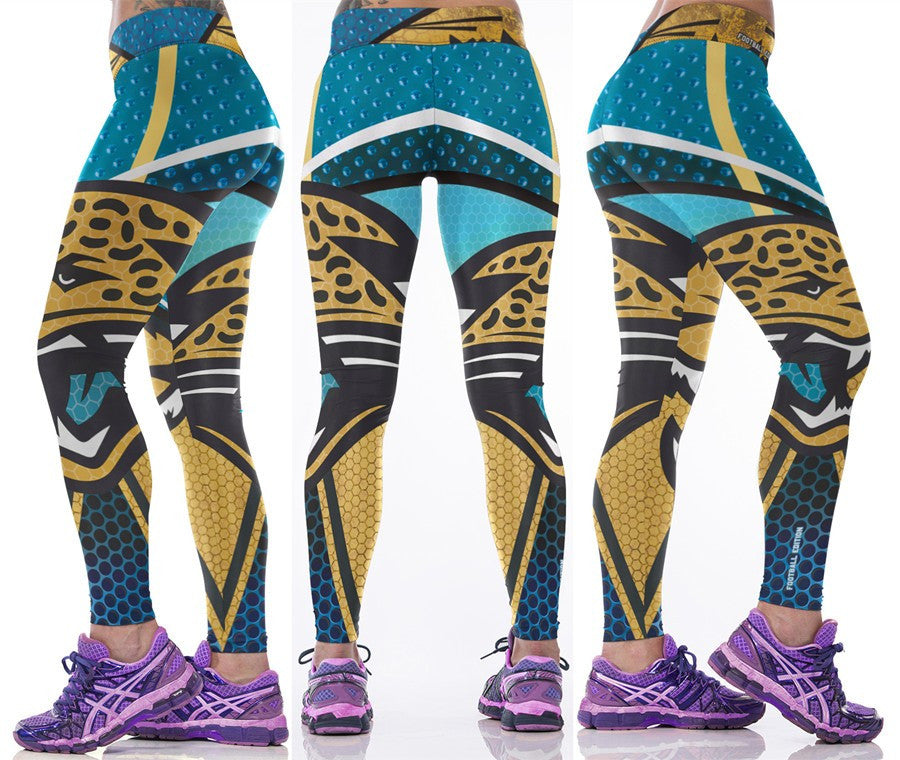 LIMITED EDITION BLUE Jacksonville Sports Leggings