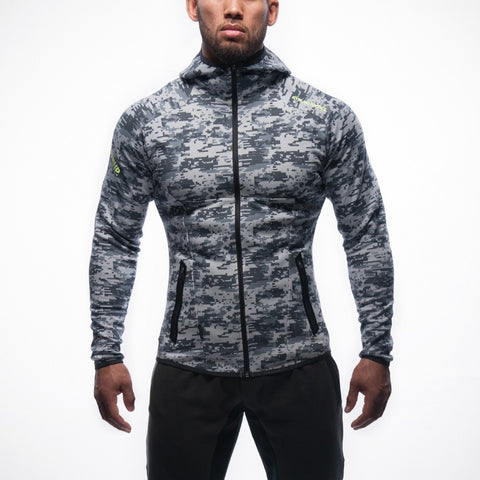 Camouflage Gym Aesthetics Hoodie Men Bodybuilding Pullover Sweatshirt