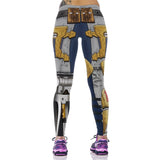 3D Design Elastic Waist Leggings