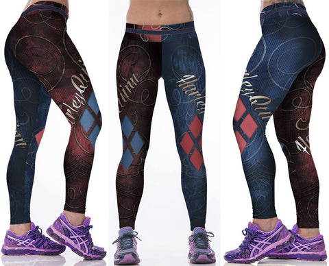 Harley Quinn 3D Printed Spandex Leggings for Women