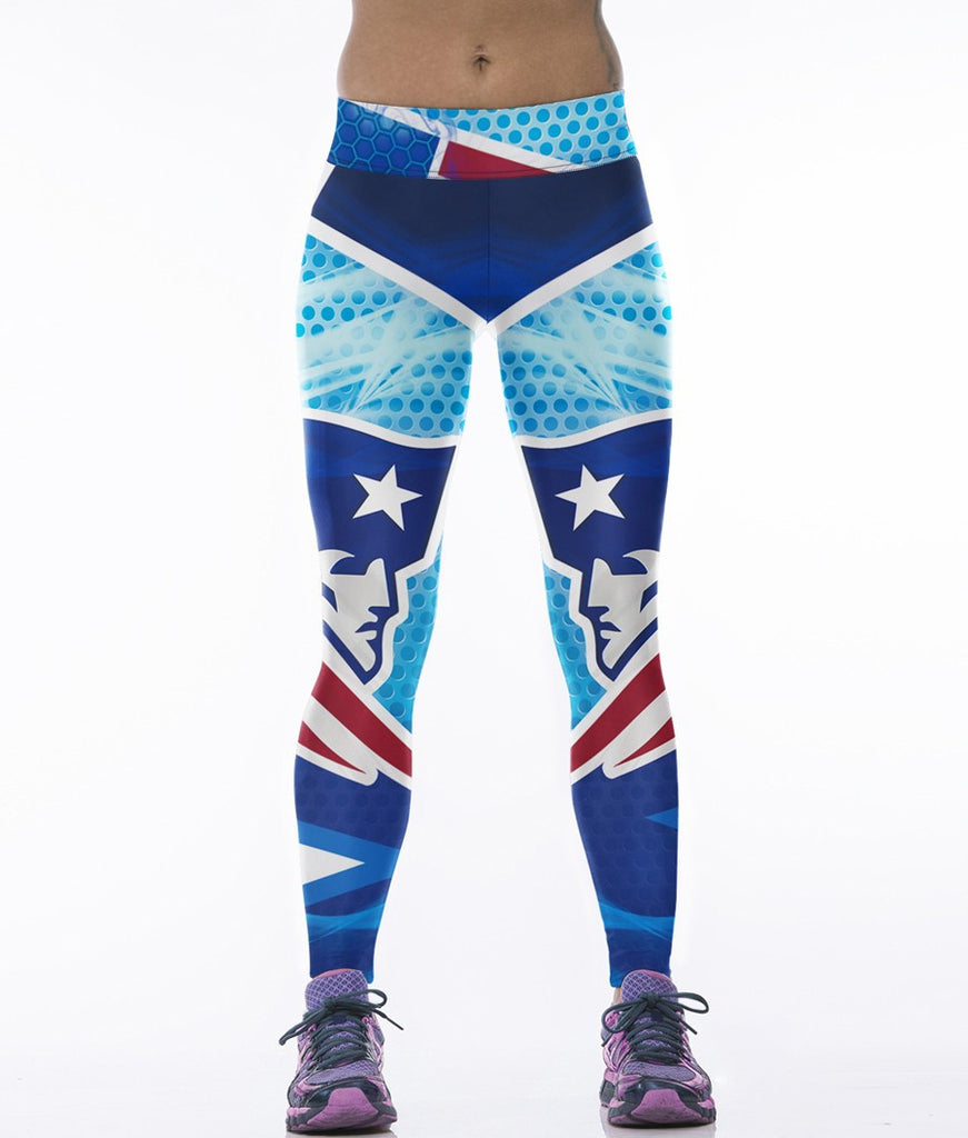 LIMITED EDITION Ocean BLUE New England Sports Leggings