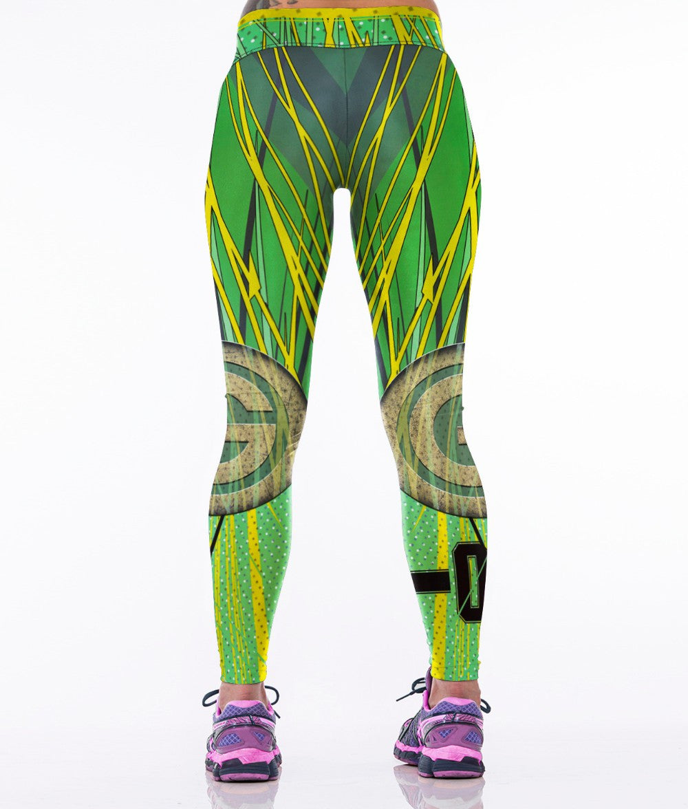 LIMITED EDITION Citrusy Green Bay Sports Leggings