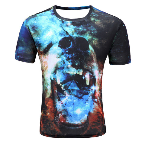 Animation Hip Hop Tees Tops Brand Clothing T-shirt D06