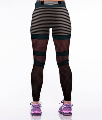 Stripe Design Leggings for Women